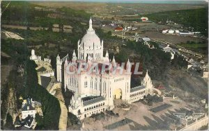 Modern Postcard Lisieux (Calvados) Basilica of France from Above