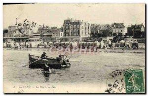 Old Postcard Dinard The Beach