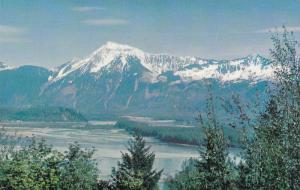 Scenic view,  Fraser River and Mt. Cheam   B.C.,  Canada,  40-60s