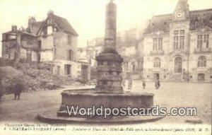 Fontaine el Place de IHotel De Ville Chateau-Thierry, France, Carte, Unused