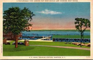New York Sampson U S Naval Training Station Boat Docks