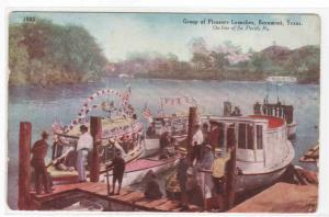 Motor Boat Launches Beaumont Texas on SP Railroad 1910c postcard