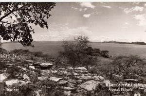 Real Photo Postcard Eastern Africa Ethiopia Aroussi Shala Lake