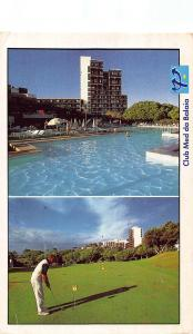 Portugal Club Med de Balaia Hotel Swimming Pool Golf Postcard