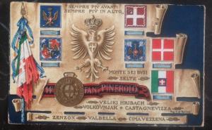 Mint Italy Patriotic Postcard always further ahead always higher WWI