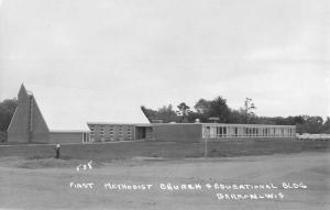 Barron Wisconsin First Methodist Church Real Photo Antique Postcard K94796