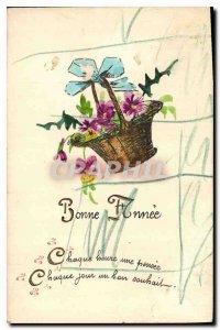 Postcard Old Bonne Annee