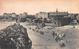 Tenby, South Sands, Wales, Great Britain, Early Postcard, Unused