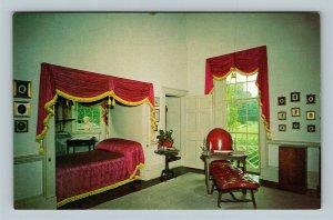Charlottesville VA, Monticello, Jefferson's Bedroom, Chrome Virginia Postcard