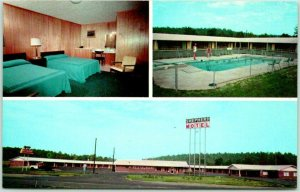 Calhoun, Georgia Postcard SHEPHERD MOTEL & RESTAURANT I-75 Roadside 1960s Unused