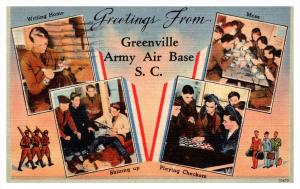 13656  Greetings Greenville Army Air Force Base  SC