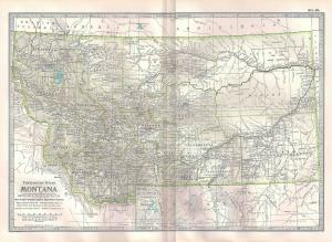 VINTAGE MAP Montana c1897 from Century Atlas