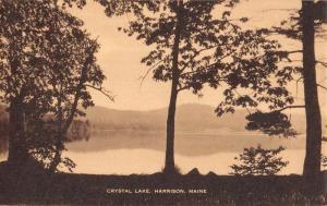 Harrison Maine Crystal Lake Waterfront Antique Postcard K89553