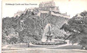 Scotland, UK Old Vintage Antique Post Card Edinburgh Castle and Ross Fountain...