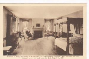 Virginia Fredericksburg Bedroom Of Mary In Home Of Mary Mother Of George Wash...