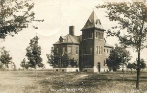 Academy 1910 Toulon Illinois Stark County RPPC real photo postcard 10973