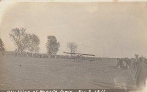 RP; WAPELLO, Iowa, 1911; Biplane alighting