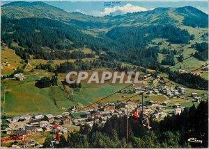 Modern Postcard Les Gets Haute Savoie General view and Mont Blanc
