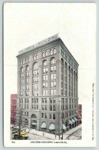Louisville Kentucky~Columbia Building & Birdseye View of Street~c1905