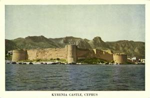 cyprus, KYRENIA, Castle view from the Sea (1950s) Pandelides