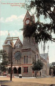 B87/ Ogdensburg New York NY Postcard c1910 Town Hall and Opera House 2