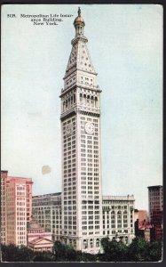 NEW YORK CITY Metropolitan Life Insurance Building - Divided Back