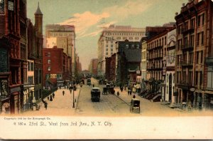 New York City 23rd St West From 3rd Avenue 1905 Rotograph