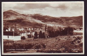P1451 ca1930,s used RPPC glenshee above spittal hotel, england