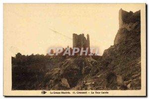 Postcard Old Creuse Crozant Illustree Tower Carree