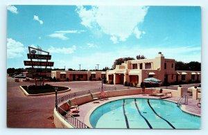 Postcard NM Albuquerque El Camino Motor Hotel c1960's Old Cars D25