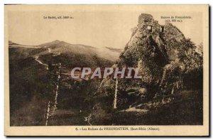 Old Postcard Chateau Freundstein Ruins