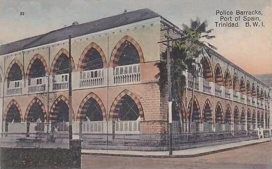 British West Indies Trinidad Port Of Spain Police Barracks