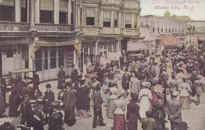 ATLANTIC CITY, New Jersey, 1900-1910's; Boardwalk Scene