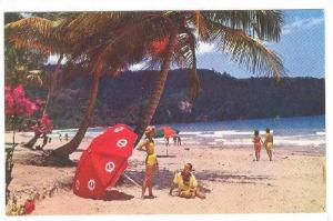 Beach along Maracas Bay near Port of Spain, Trinidad, 40-60s