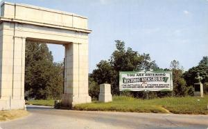 Mississippi~Arch At Entrance To Vicksburg National Military Park~1950's Postcard