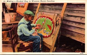North Carolina Southern Appalchian Mountains A Hooked Rug Maker