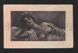 078051 Semi-NUDE Plump Lady BELLE by VULET vintage PC