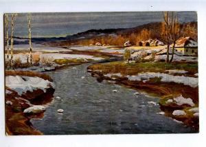 224634 RUSSIA Brovar Early spring IDM #27 vintage postcard