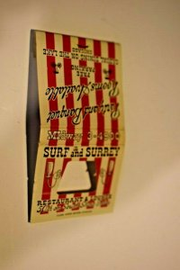 Surf and Surrey Chicago Illinois Feature Matchbook