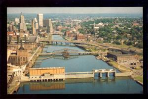 Providence, Rhode Island/RI Postcard, Aerial Of Fox Point Hurricane Barrier