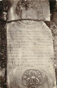 The merchant Lewis Galdy tombstone - The Man who was Buried Twice