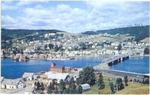 View of the Town of Gaspe,  PC, Quebec, Canada, 1963 Chrome