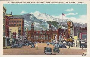 Colorado Colorado Springs Pikes Peak From Pikes Peak Avenue