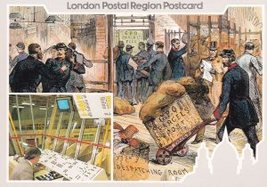 Royal Mail Post Office Parcels Delivery Service Newspaper Postcard