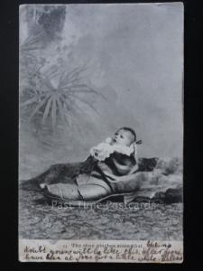 A Baby in a Shoe 'The shoe pinches somewhat' c1904