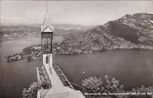 Switzerland Buergenstock Lift Hmmetschwand mit Rigi 1947 Photo