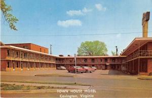Covington Virginia birds eye view Town House Motel vintage pc Y15695