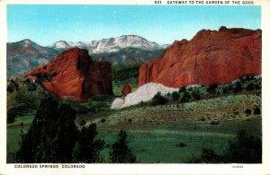Colorado Colorado Springs Gateway To The Garden Of The Gods Curteich