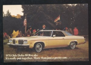 1974 OLDSMOVILE DELTA 88 STOUGHTON WISCONSIN CAR DEALER ADVERTISING POSTCARD