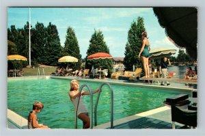 Alexandria Bay NY- New York, Thousand Island Club, Wellesley Bay Chrome Postcard